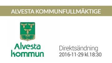 Alvestas kommunfullmäktige, 29 november 2016